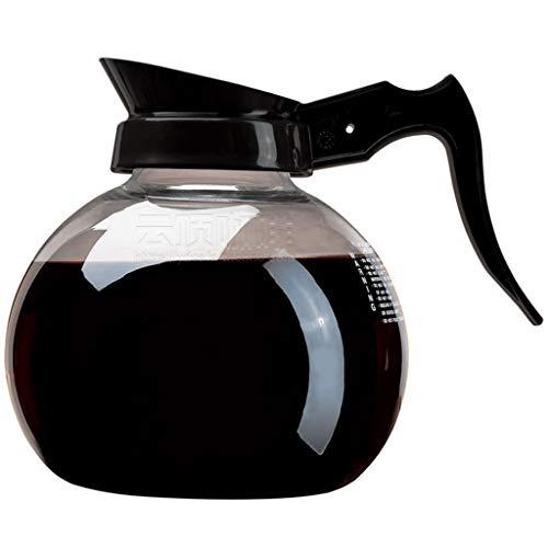 YQQ-Cafetière Coffee Pot Decanter/Carafe Black Regular - Nouveau Verre Design Forme - Poignée Ergonomique - 15 Capacité Coupe