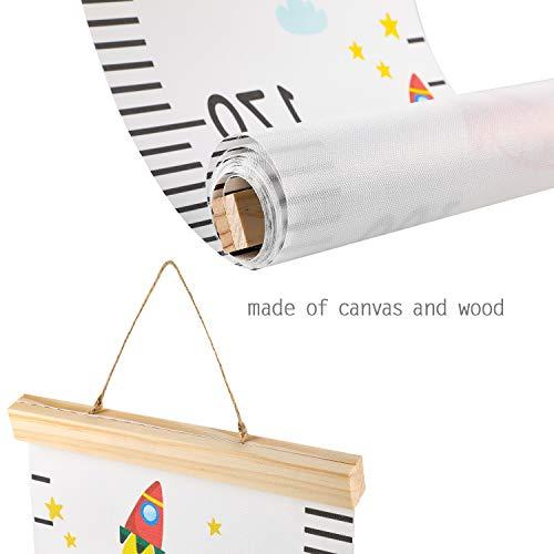 Hifot Toise murale à suspendre Règle la taille Mesure Graphique Dessin animé Toile...