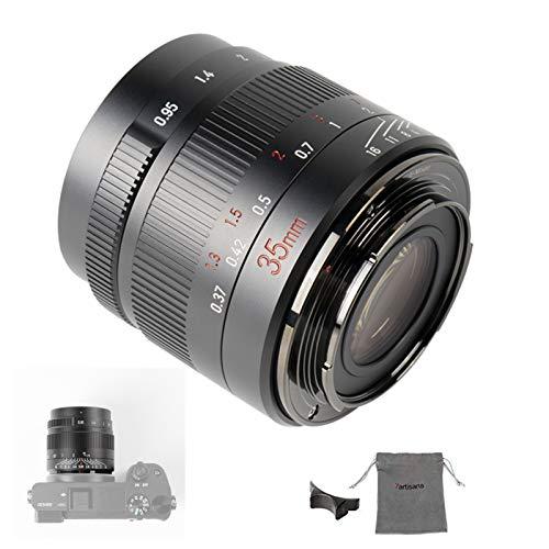 7artisans 35 mm F0.95 Kameralinse APS-C Manueller Fokus Objektiv kompatibel mit Fuji XF/X Mount Kamera (kompatibel mit Fuji X)
