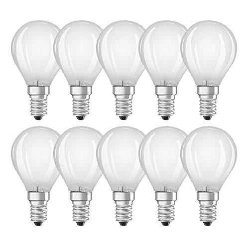10 x Bellalux LED Filament Leuchtmittel Tropfen 4W = 40W E14 matt warmweiß 2700K