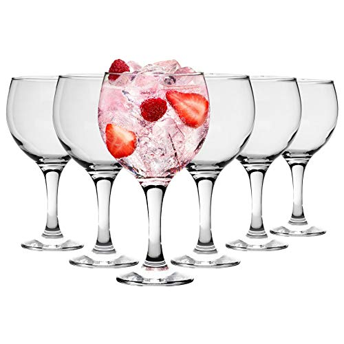 Españoles Gin Tonic cócteles Vasos - 645ml (22,7 oz) Pack de 6 Globo