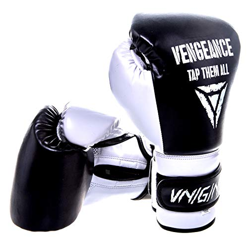 Vengeance MMA Premium Boxhandschuhe | Boxen, Kickboxen, Muay Thai, K1, Striking| verstärkter Knöchel- und Gelenkschutz | Ultra-Fester Sitz | Profi-Handschuhe (12 oz)