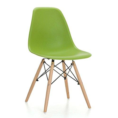 SuperStudio Wooden - Pack de 2 sillas , color verde, talla 81.5 x 47 x 53.5 cm