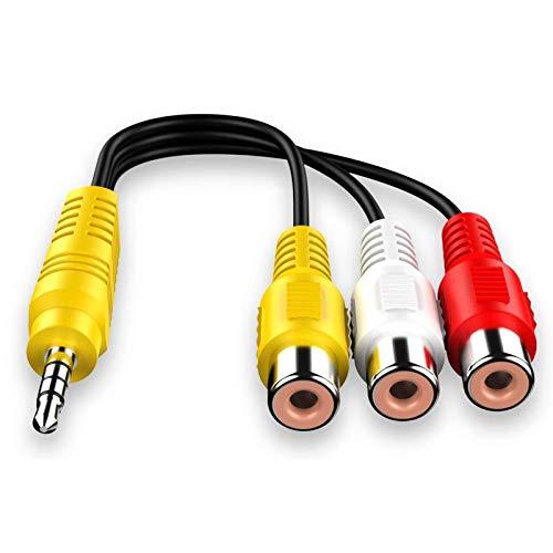 Cable AV Jack 3.5,Cable Audio RCA,Cable De Vídeo AV De 3,5 Mm...