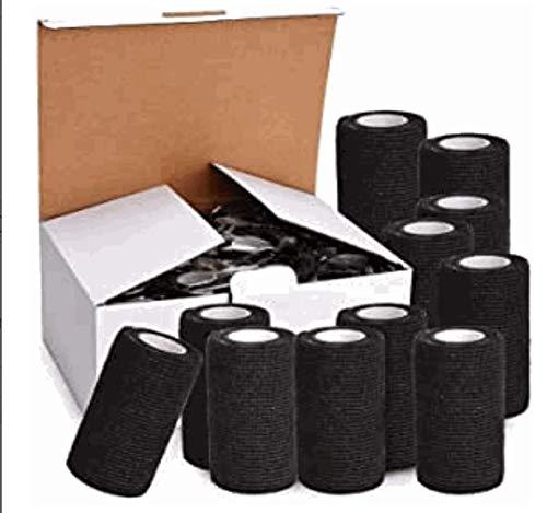 KAIGE 12 Rollen Selbstklebende Bandage Kohäsive Bandage Tape Wrap selbsthaftende elastische atmungsaktive Bandage für Sport Verstauchung des Handgelenks und Schwellung Erste Hilfe Stützverband