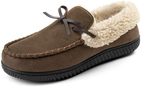 RockDove Men s Highland Memory Foam Moc Slipper Size 10 US Men Coffee Sherpa product image