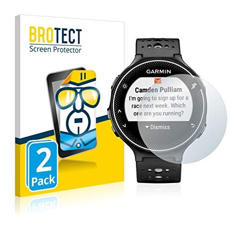 BROTECT Schutzfolie kompatibel mit Garmin Forerunner 230 (2 Stück) klare Bildschirmschutz-Folie