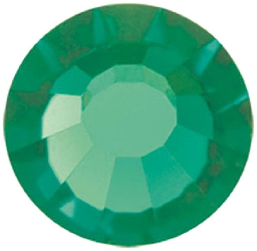 Mode Beads Preciosa Crystal Flatback Beads, Green/Tourmaline, 10 Gross Package