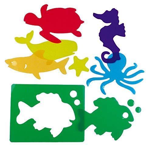 Henbea- Plantillas de Aprendizaje de Animales del mar, trasl&uacutecidos (914)