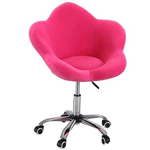 Silla giratoria de escritorio ergonómica para sofá de ocio, silla de escritorio para oficina en casa, silla giratoria para computadora con esponja de tela de franela, totalmente ajustable para balcón,