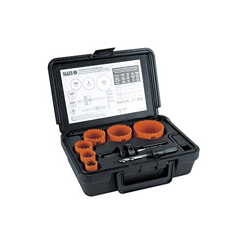 Klein Tools 31902 Bi-Metal Hole Saw Kit, 8-Piece