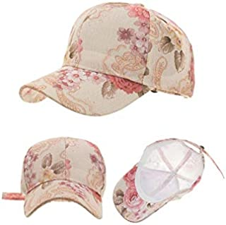 Hats Fashion Spring and Summer New Print Shade Outdoor Baseball Cap Ladies Fashion (Color : Beige, Size : 54-62cm)