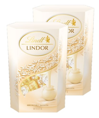 Lindt Lindor White Chocolate Truffle Cornet Box (2 x 200g)