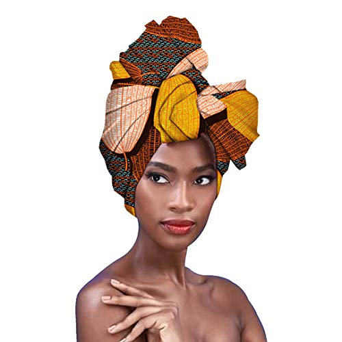 Surkat Traditional African Print Headwrap African Towel Fashion Head Scarf Headwear Hairwrap (Multicolored)