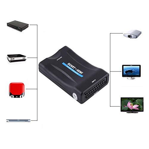 Pangding 720P 1080P Scart a HDMI Audio Video Converter Scalers Adaptador con Cable USB
