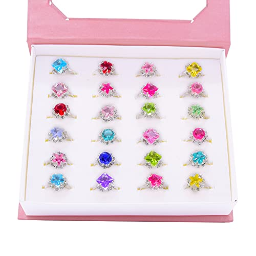 Little Girl Adjustable Rings, Princess Finger Rings , Girl Pretend Play and Dress up Rings for...