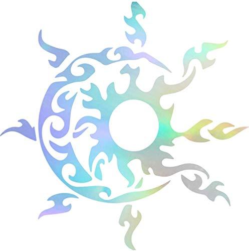 Pegatina Promotion Sonne Mond Tribal Aufkleber ca.20 cm Oilslick Folie Oil Slick Öl Effekt Autoaufkleber,Wandtattoo, Waschanlagenfest, Profi-Qualität, Decal,Sticker