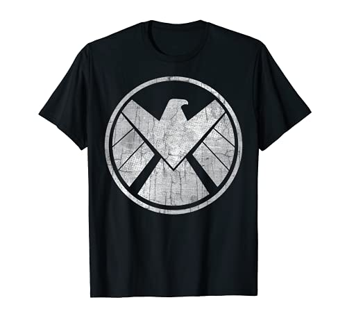 Marvel Agents of S.H.I.E.L.D. Grungy Logo Vintage Maglietta