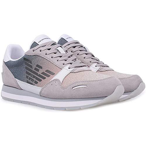 Emporio Armani X3X058-XM262 Sneakers für Damen, Marine, niedrig, Blau - Blu Whi Nud - Größe: 36 EU