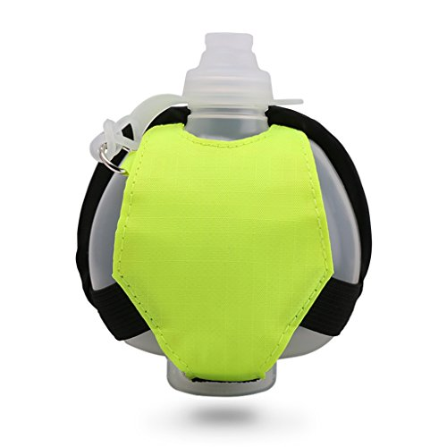 Eyourlife Wearable Hands Free Hydration Wrist Pouch Use As Running, Cycling, Hiking, Camping, Fishing, and SUP(Green)