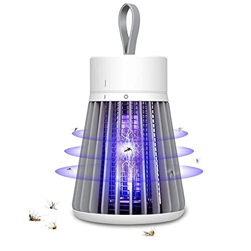 Lampada Antizanzare da Esterno Ricaricabile Elettrica da Interno e Esterno, 2000 mAh Capacità Super Lunga Portatile Campeggio