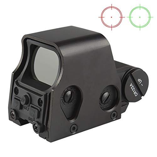 Holographic Sight Grün Rot Dot Scope Zielvisier Airsoft Leuchtpunktvisier 20mm Schiene Helligkeit Einstellbar CJ/MZJ-08