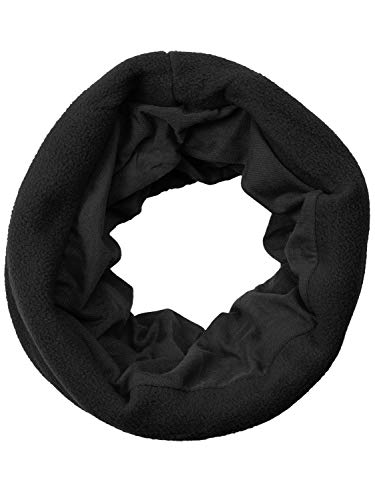 Bufanda multifunción de forro polar, calentador de cuello, bandana Negro Talla única