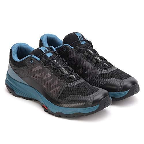 Salomon Herren Trail Running Schuhe, XA DISCOVERY, Farbe: schwarz blau (Black/ Mallard Blue/Ebony) Größe: EU 43 1/3