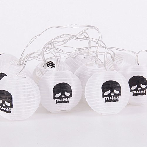 QAR Halloween papieren lantaarn party decoratie spinnen pompoen lichtketting Halloween
