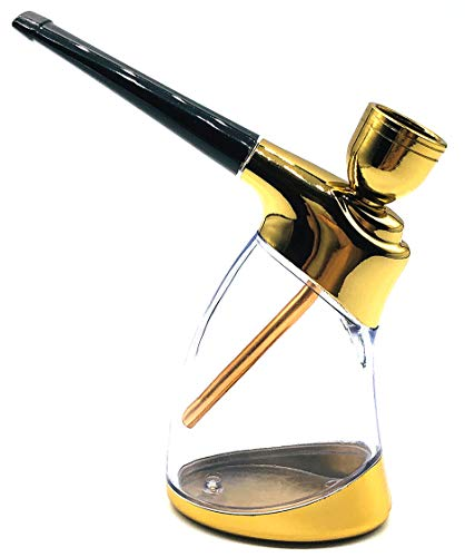 Portable Mini Hookah Set with Shisha Accessories Handheld Hookahs Set HT9527 Gifts for Boyfriend Father Husband or Friends Golden