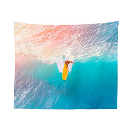 59.1x39.4 Inch Surf Tapestry Wave Tapestry Surf Wall Tapestry Wave Wall Tapestry Surf Wall Decor Surf Wall Hanging Surf Wall Art Wave Wall