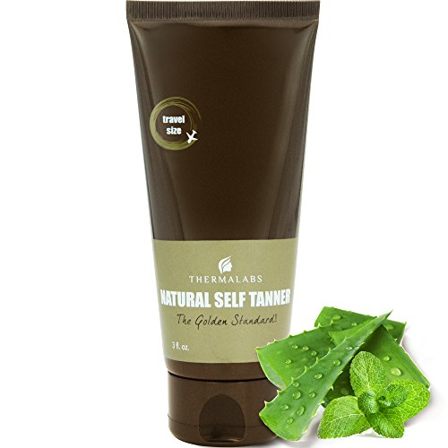 Organic Self Tan Lotion for Traveling. Bronzing on the go! Ultra Natural Glow Face & Body Tanner....