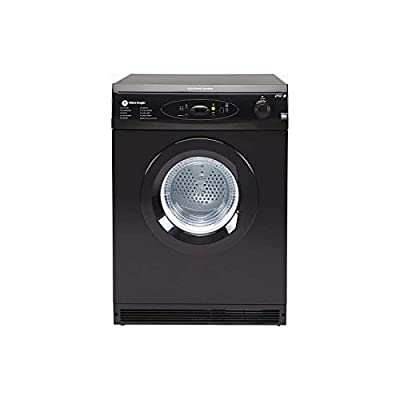 White Knight C86A7B 7kg Freestanding Vented Tumble Dryer - Black