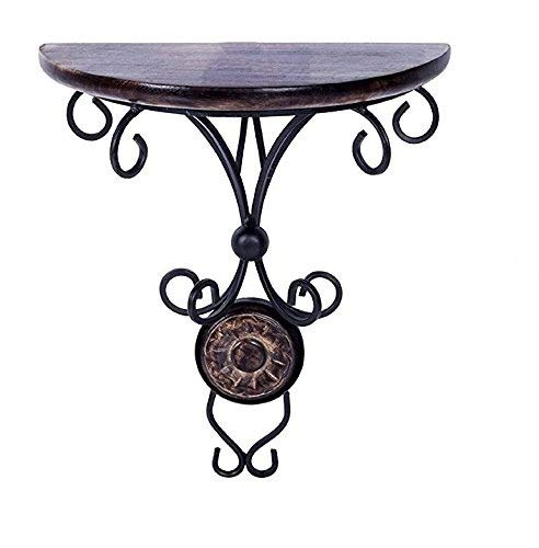 Chritmas Gift / Chritmas Sale Wooden & Iron Standard Size (9 Inch Height) Antique Inspired Wall Hanging Wood & Wrought Iron Fancy Wall Bracket for Home and Living Room Decoration.