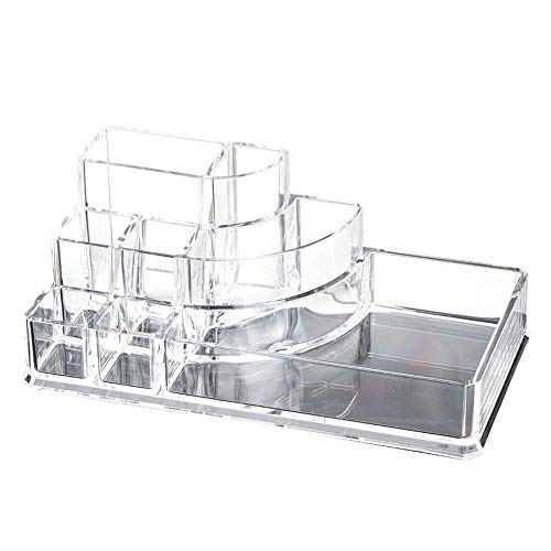 Acrylic Jewelry Cosmetic Storage Drawers Display Transparent Makeup Organizer Boxes Case Cosmetic Storage Box-Y-1001,Clear
