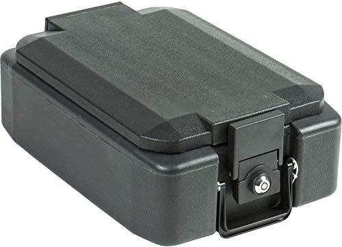 Burg-Wächter feuerfeste Dokumentenbox, abschließbar, anschraubbar, aus Kunststoff mit Feuerschutzmaterial, DIN A4, FP 22 K, 10,5 kg, Schwarz