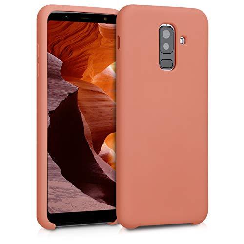 kwmobile Coque Compatible avec Samsung Galaxy A6+/A6 Plus (2018) - Coque - Housse de téléphone Corail Mat