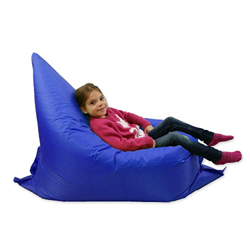 MaxiBean Kids Beanbag 6 way Large Garden Lounger Childrens Bean Bag Outdoor Water Resistant Floor Cushion Blue