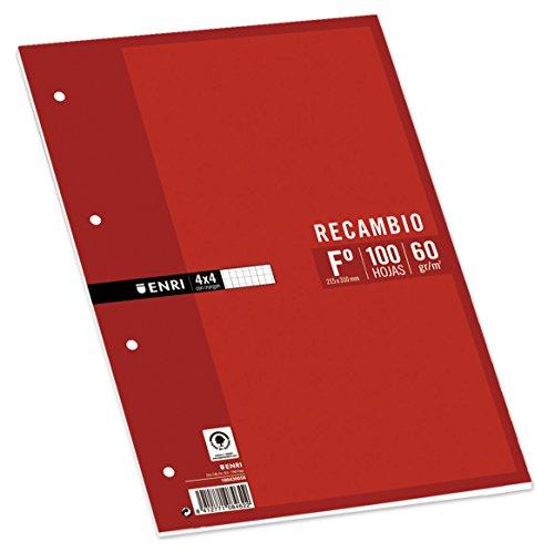 Enri 740074 - Pack de 100 hojas de papel recambio