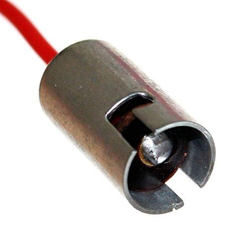 12x Ba9s Metall-Fassungen mit Zuleitung T4W Metallsockel-Fassung Lampenfassung Beleuchtung 12V 24V Umbau Reparatur Neu Old-Harvest