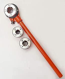 Ratchet Threader Set, Manual Ratcheting Pipe Threader(4 Dies and Storage Case)