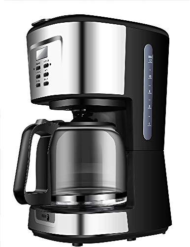 Fagor Cafetera programable eléctrica de Goteo automática, máquina café de Filtro Capacidad 12 a 14 Tazas, 1,5 litros, Display Digital Hora 24h/Temporizador, 900 W, Negro