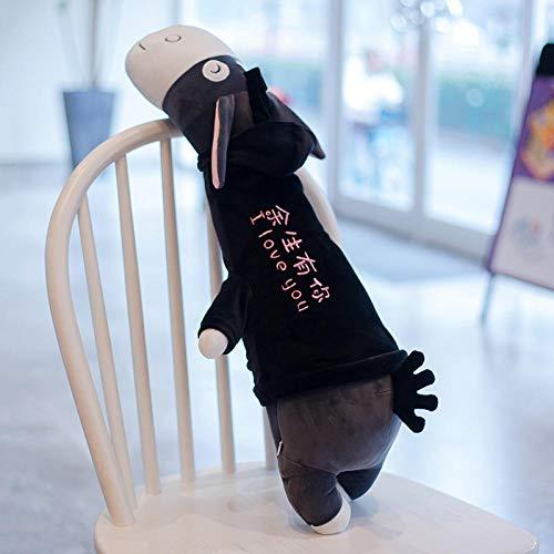 Pluchen Speelgoed Ezeltje Schattig Dragend Sweatshirt Kinderpop-donkergrijs-je Hebt De Rest Van Je Leven_95cm