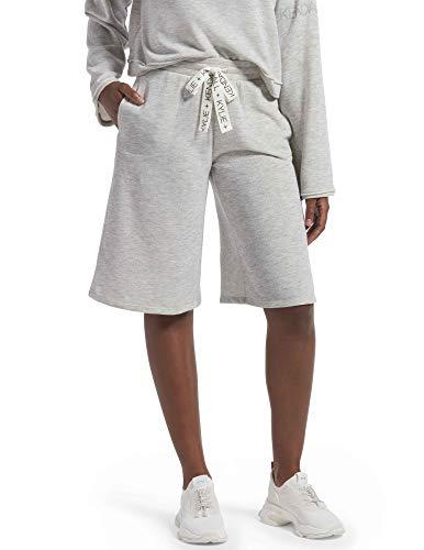 KENDALL + KYLIE Women's Boyfriend Lounge Shorts, Light Heather Grey, Extra Large