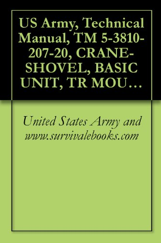 US Army, Technical Manual, TM 5-3810-207-20, CRANE-SHOVEL, BASIC UNIT, TR MOUNTED: 20-TON, 3/4 CU YD, GASOLINE DRIVEN, 6X6 (QUICKWAY MODE NON-WINTERIZED ... {TO 36C23-3-37-12} (English Edition)