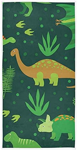 Weiche Handtücher, grüne Dinosaurier, sehr saugfähig, Handtücher für Badezimmer