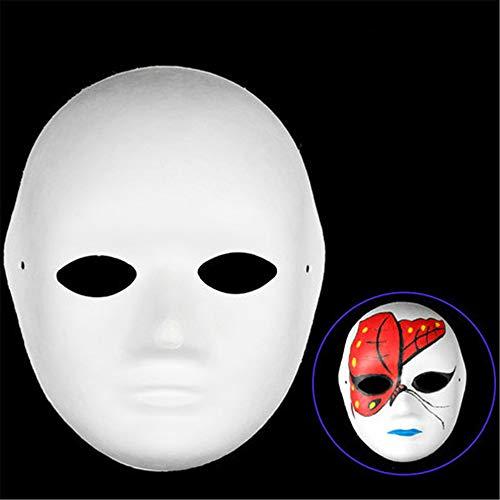 RENS 10 Stks Diy Masker Schilderen Pulp Blank Witte Maskers Volledig Gezicht Half Gezicht Maskerade Party Maskers Kostuum Props Voor Mannen Vrouwen Kinderen C