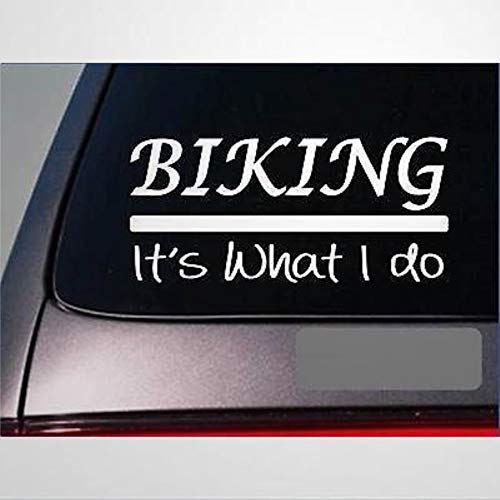 Biking Sticker Decal Road Bike Helmet Pedal Tires Chain Mountain Tread Stickers Car Decal Window Decal Vinyl Decal Die Cut Decals Funny Laptop Stickers Bumper Stickers Present