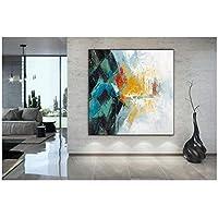 アートパネル PIPAO キャンバス上のカラフルな抽象芸術オリジナルポスター壁画プリントルームオフィスアートワーク家の装飾 23.6x23.6in(60x60cm)x1pcs フレームなし