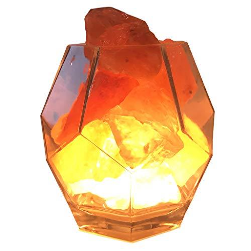 alyf lámpara de Escritorio Regalo Luz Cristalina del Himalaya Lámpara de Sal aromaterapia Dormitorio lámpara de cabecera Lámpara de Mesa romántica Noche lámparas (Color : As Shown)